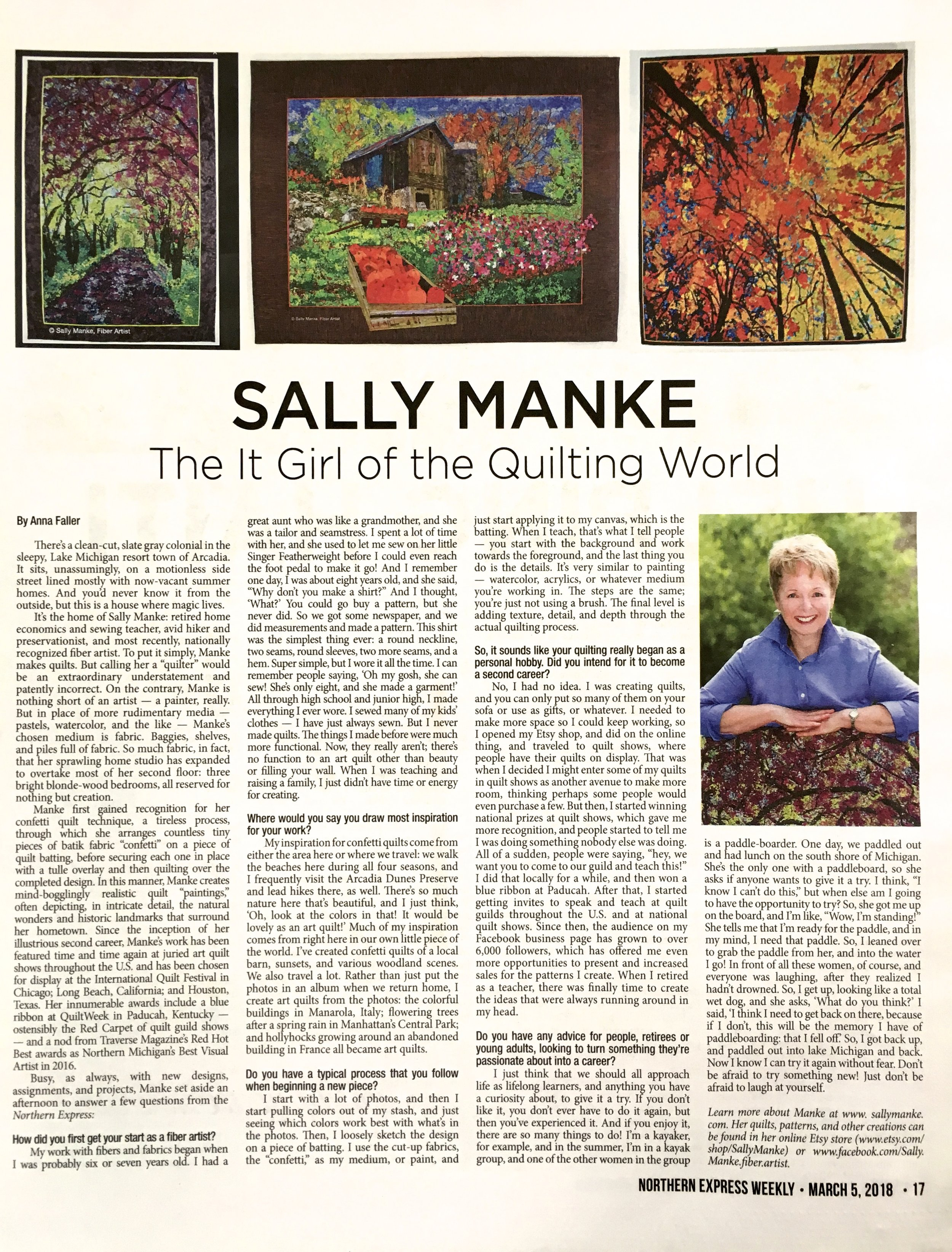 Sally Manke, Northern Express Weekly