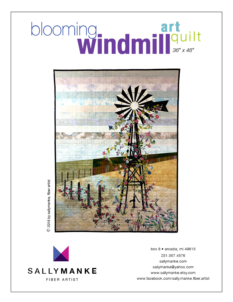 Blooming Windmill Art Quilt Pattern - 36