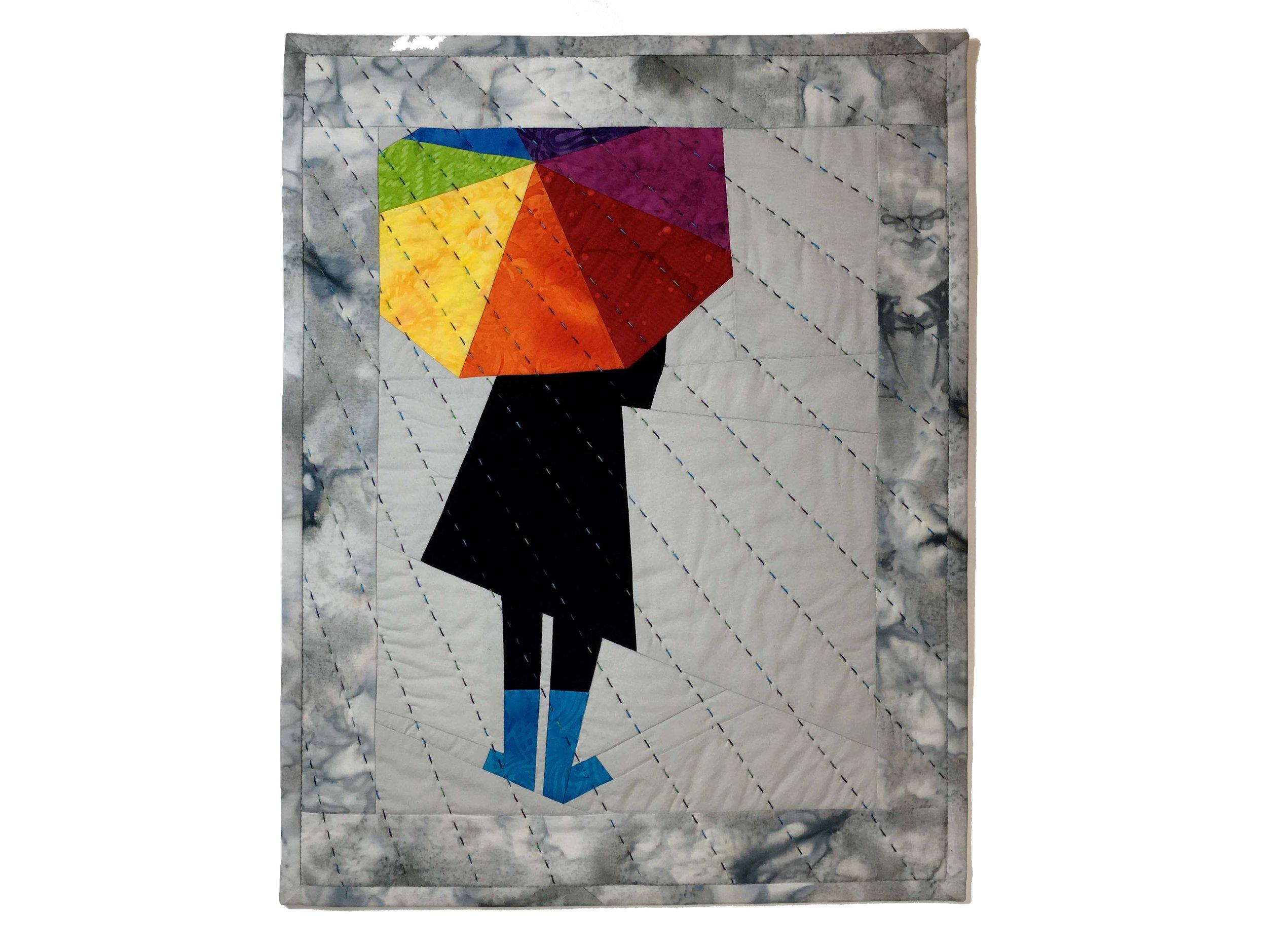 Rainy Days and Sunshine Art Quilt
