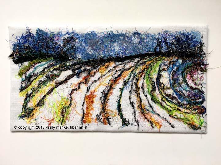 Winter Field Art Quilt