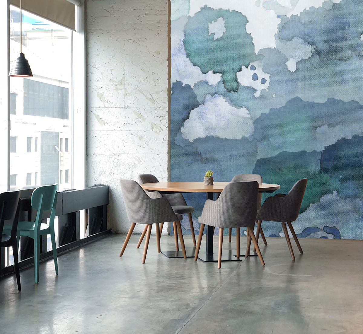 Pangaea Wallpaper Mural // Collection: Joyfire by Beth Glover for Mitchell Black