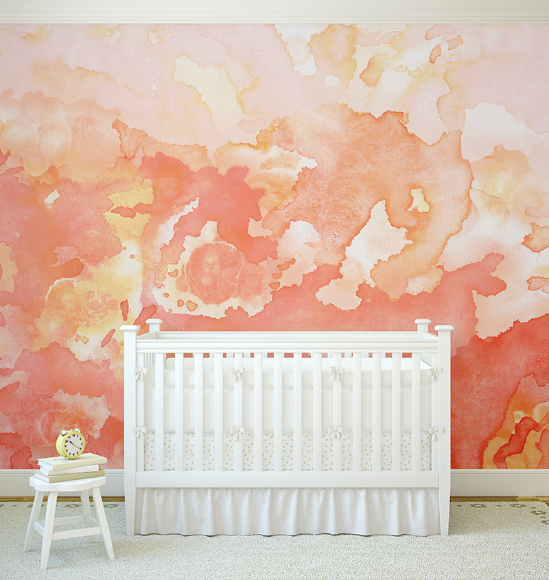 Atomic Wallpaper Mural // Collection: Joyfire by Beth Glover for Mitchell Black