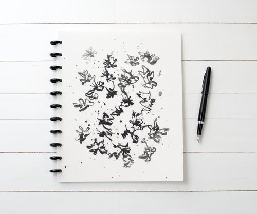 Flow Matte Cover // Collection: Black + White for Natalie Rebecca Design