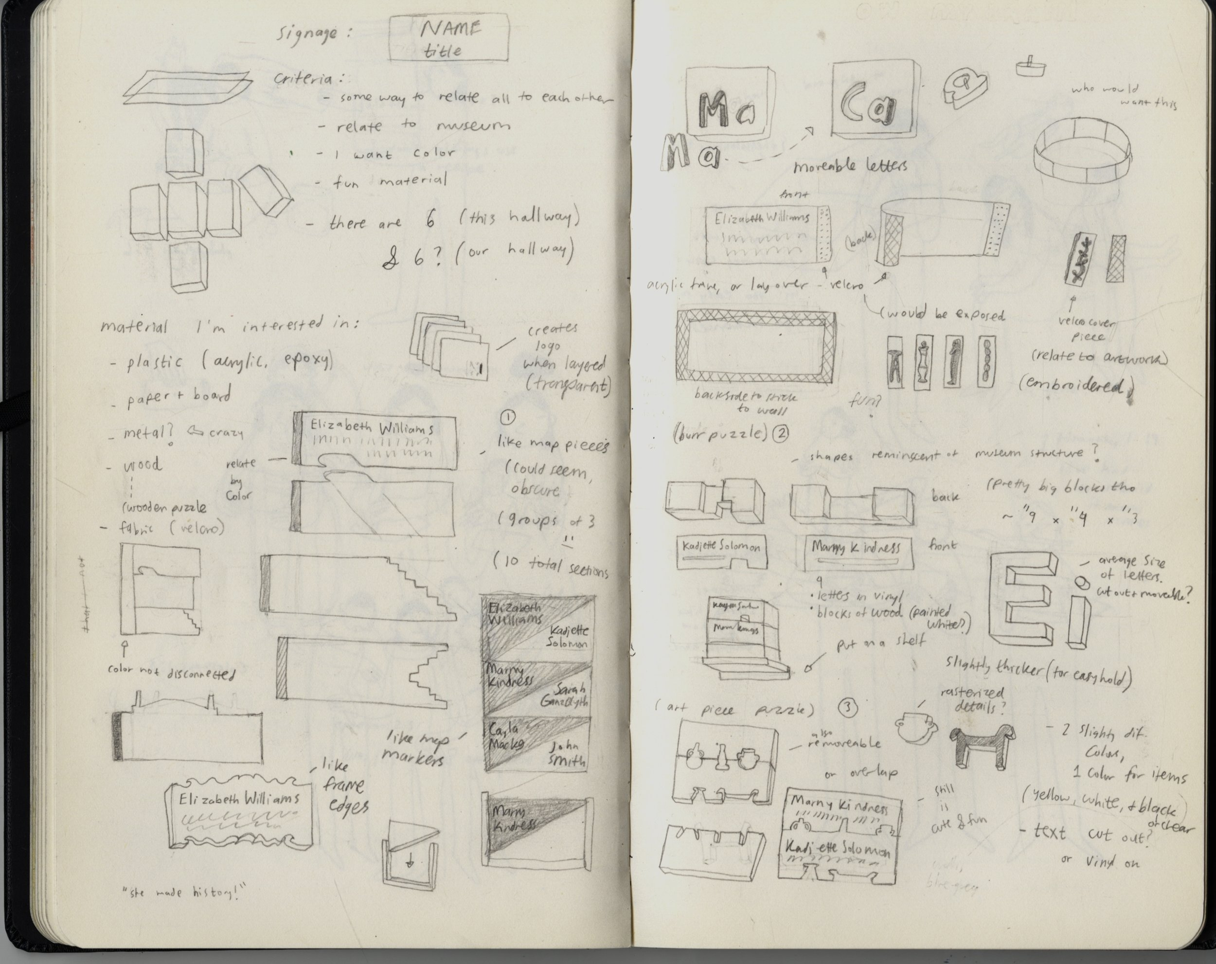 RISD Museum design sketches