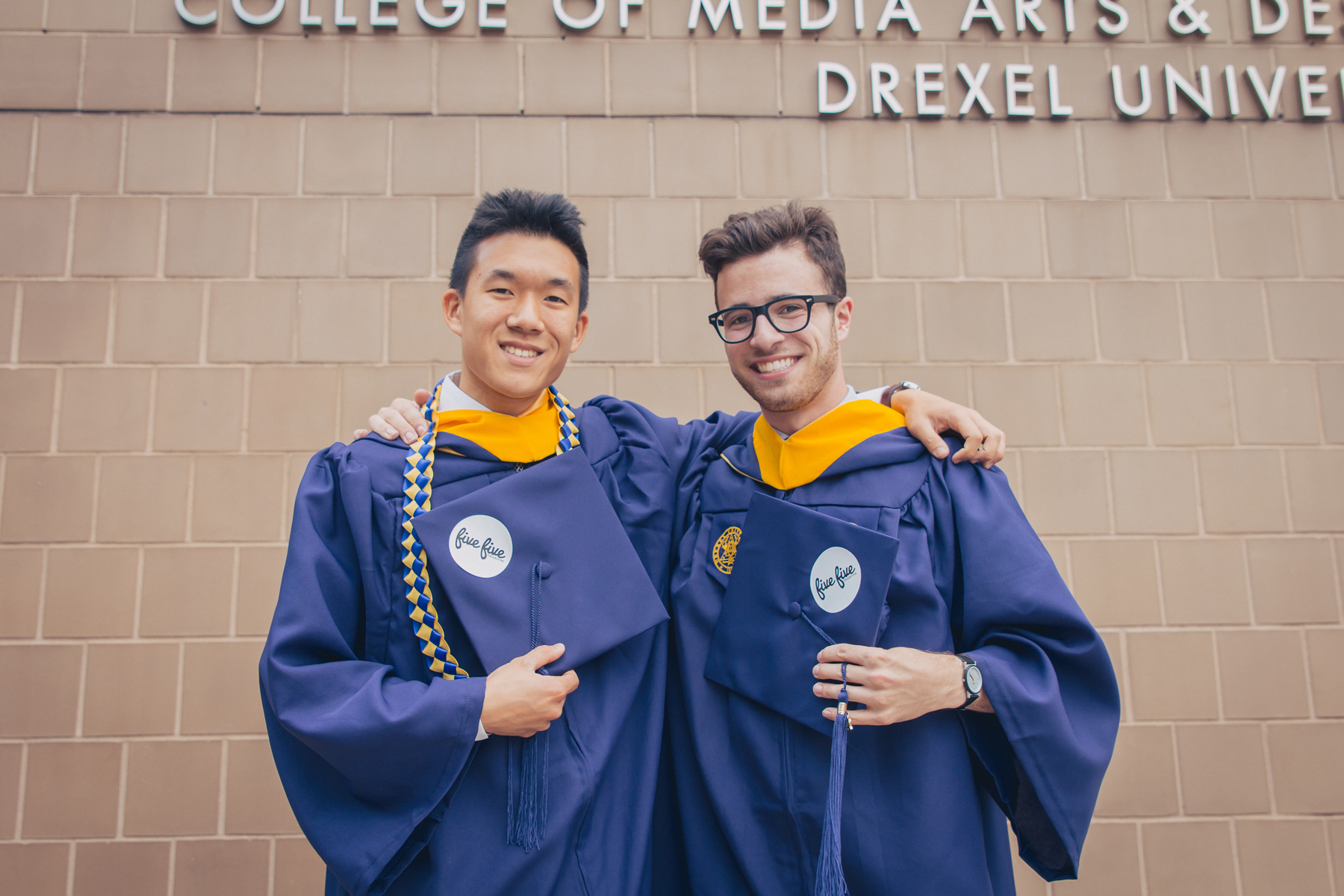 Founders Dan Leung and Max Goldberg on their graduation day