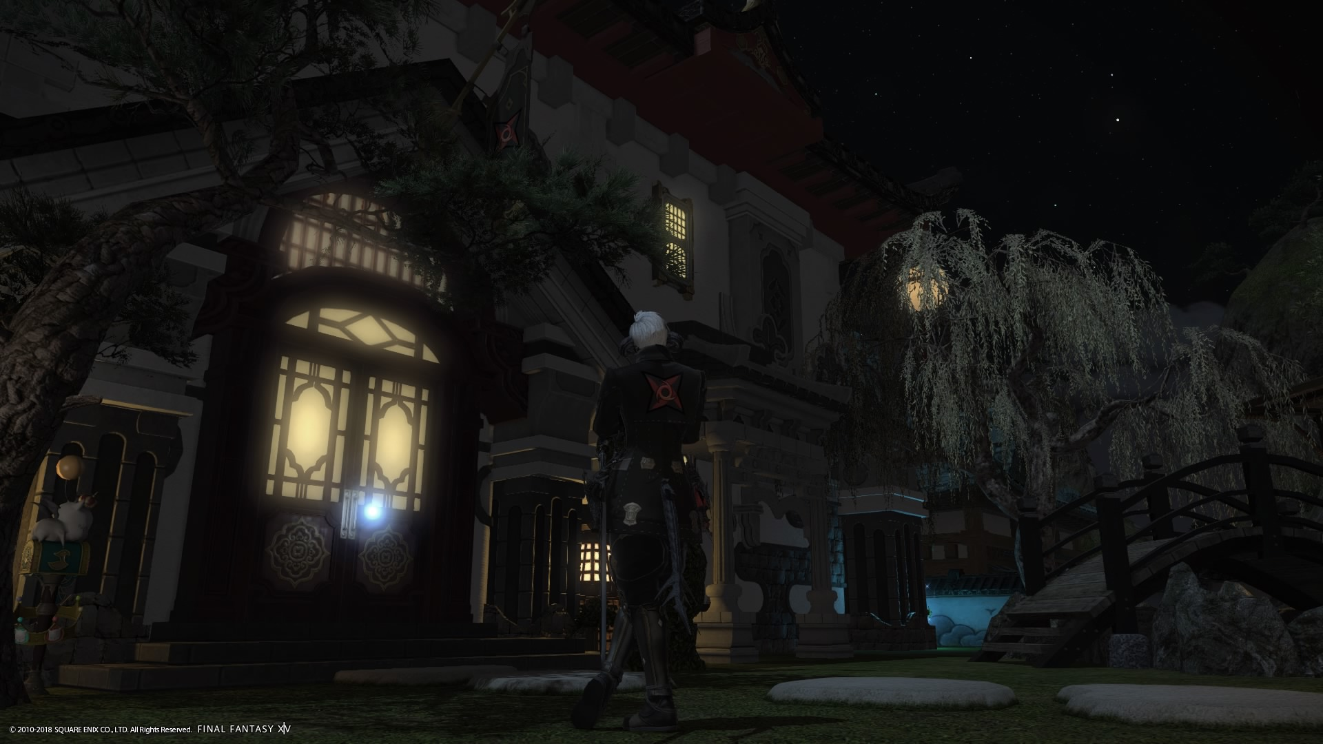 Front door to the S.N.A. Chapterhouse in FFXIV