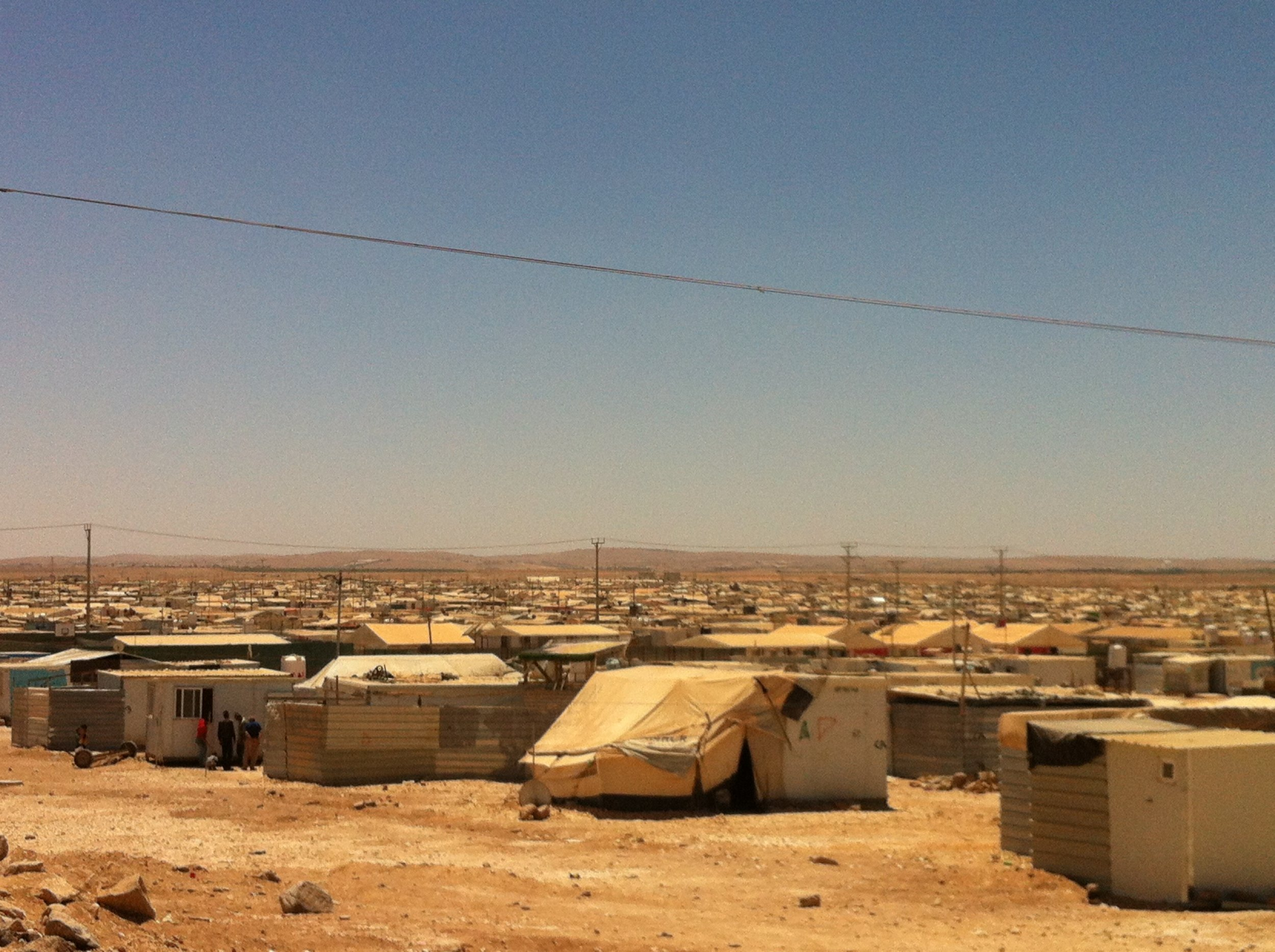 A view across Za'tari Refugee Camp, 27 July 2016. Photo by Lewis Turner.