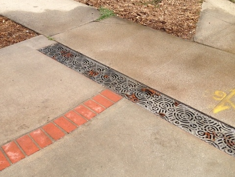 Infiltration Trenches - Like permeable paving, infiltration trenches are designed to create space for capturing rainwater that runs off impervious surfaces.  They can make open spaces in impermeable paving and tight areas to help sink water into the ground.