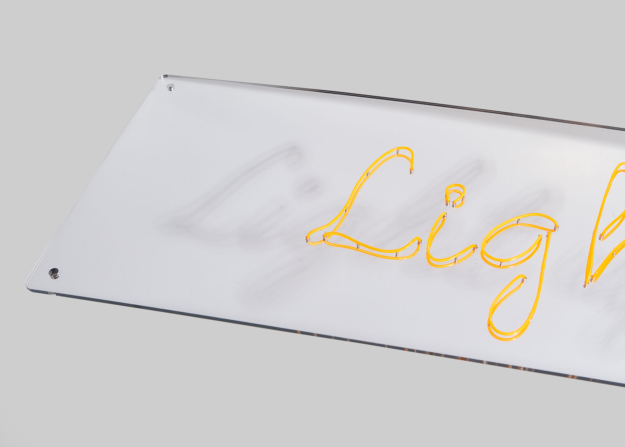 Mirrored Perspex - Mirrored perspex with your choice of text, font and colour.