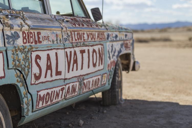 Salvation Mountain art