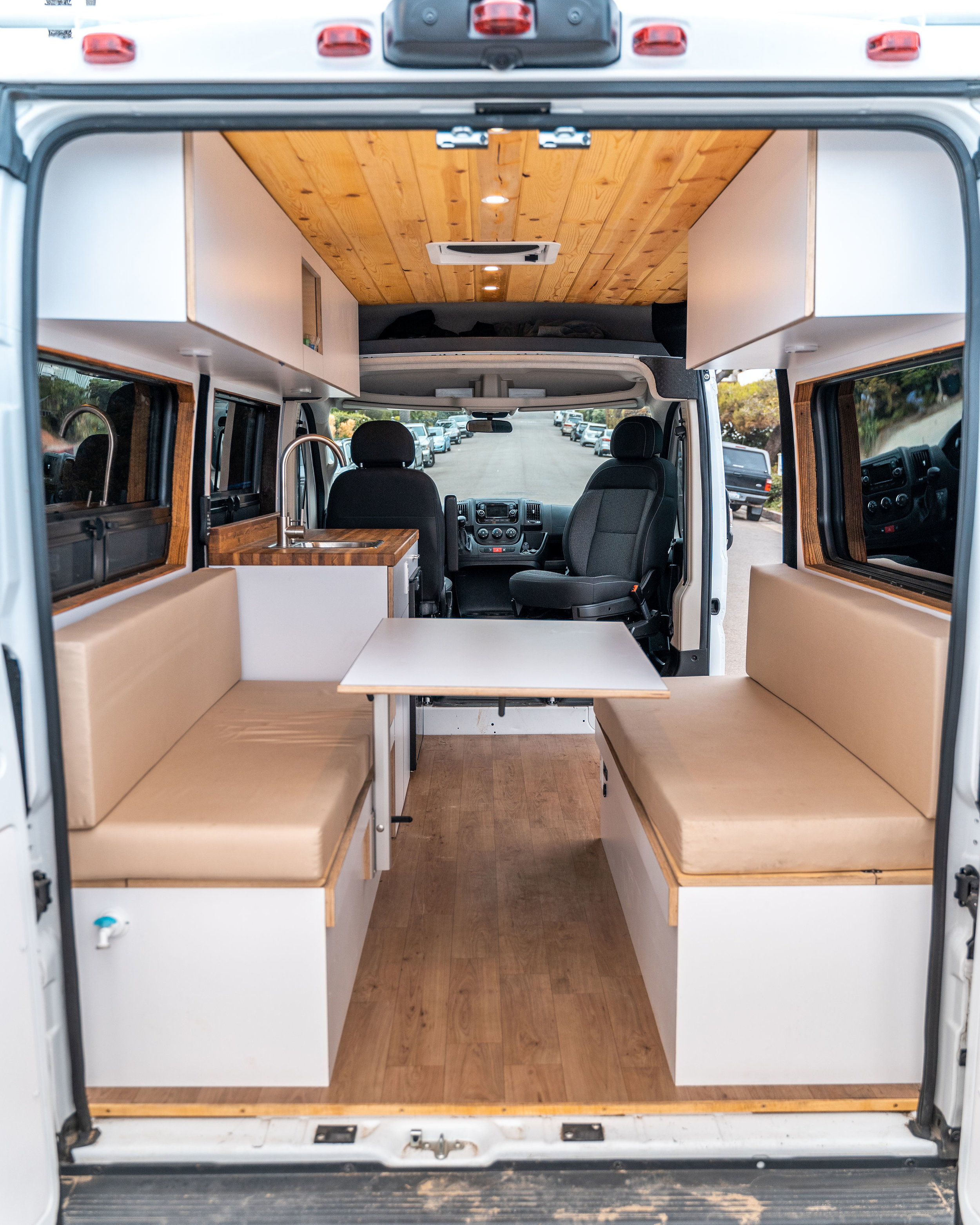 Does your vanlife dream camper provide dining space or work space for four people?