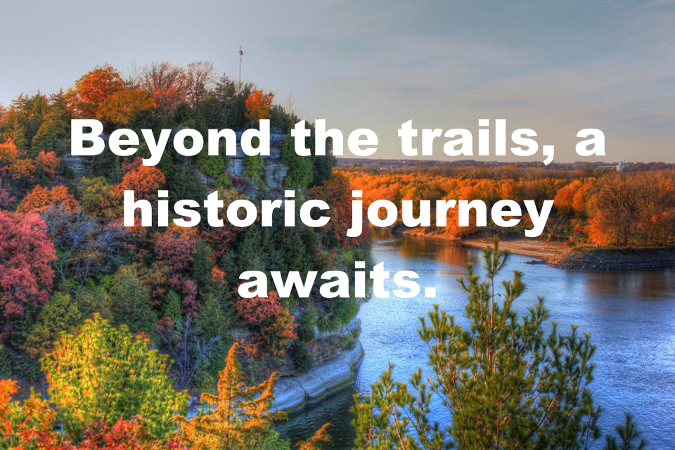 Indian Burial Mounds & Forgotten Graveyards and our Ottawa History Bike Tours are a great way to see our fall colors!