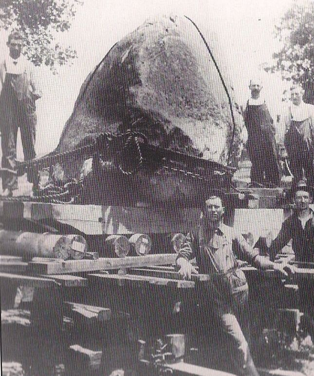 This is the boulder that marks the site of the Lincoln Douglas Debate as it was removed from Dayton, Illinois.