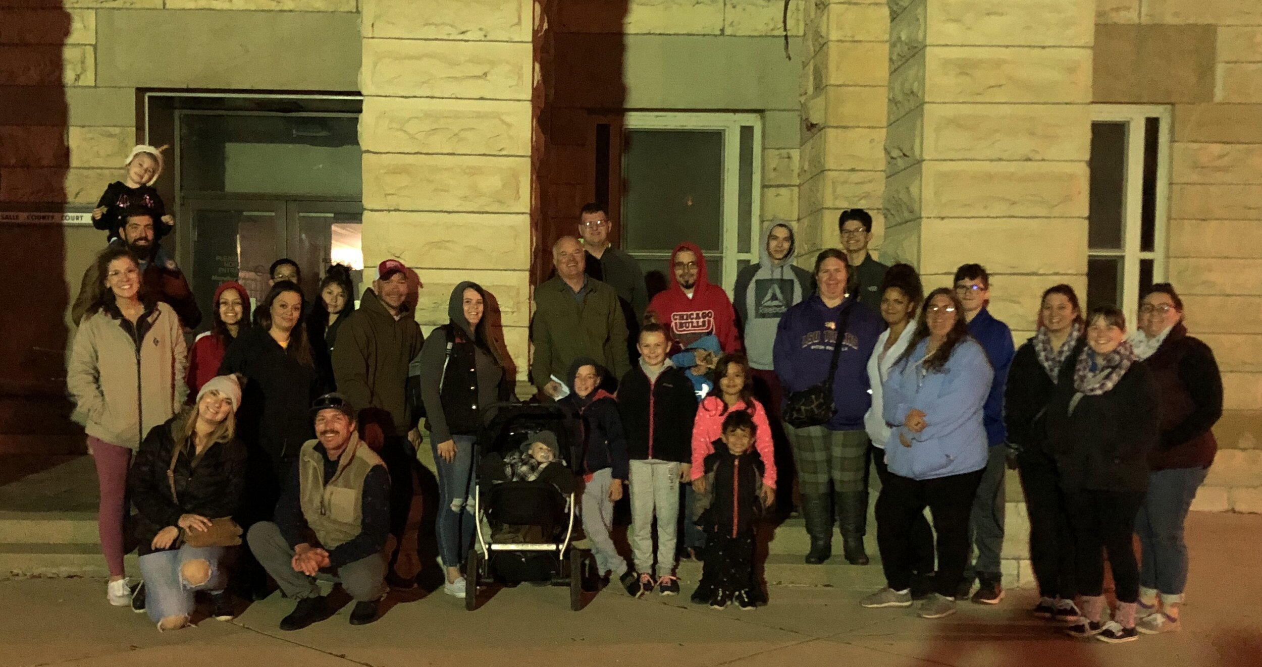 We had a great group for friends and family night on the Haunted Ottawa History Tour
