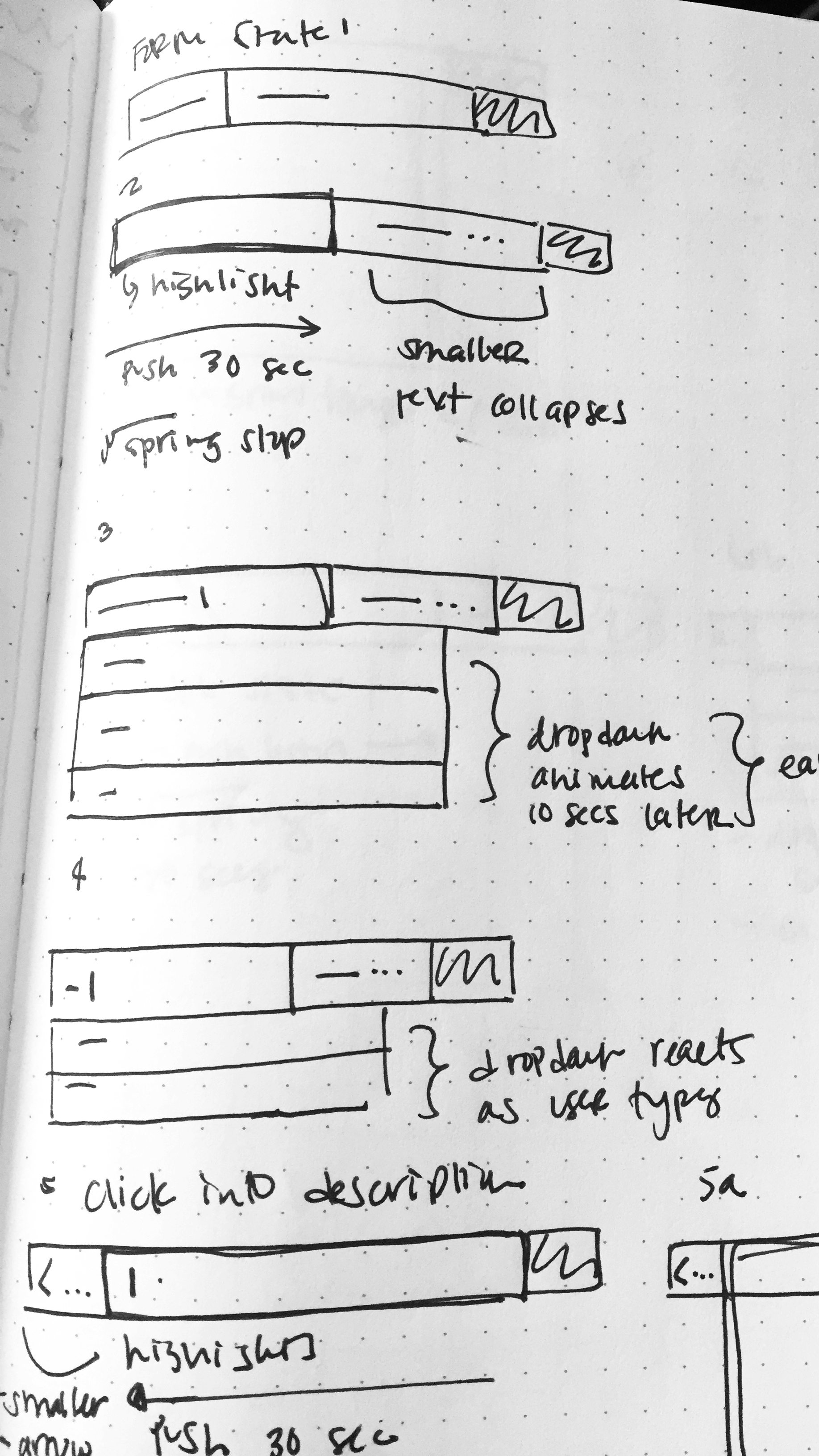sketches - Started out the process sketching, exploring how we could make search feel more friendly and get more information from the students in one step, making it feel more lightweight than the current process of doing multiple steps.