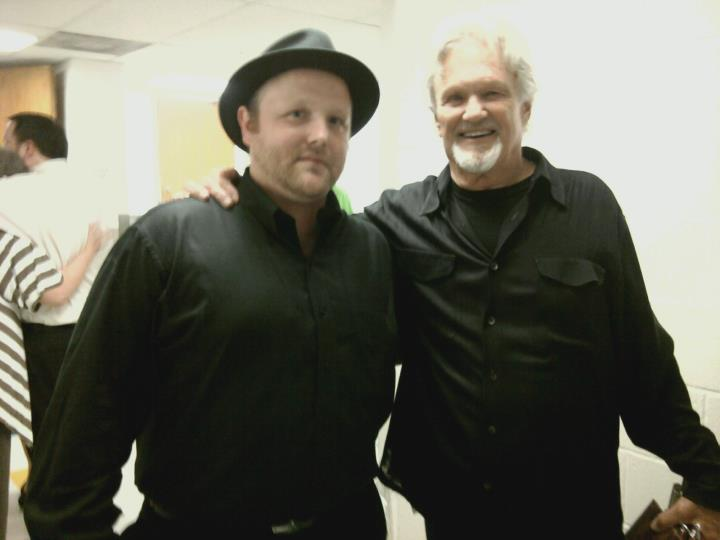 JFQ with Kris Kristofferson after performing the Johnny Cash Music Festival