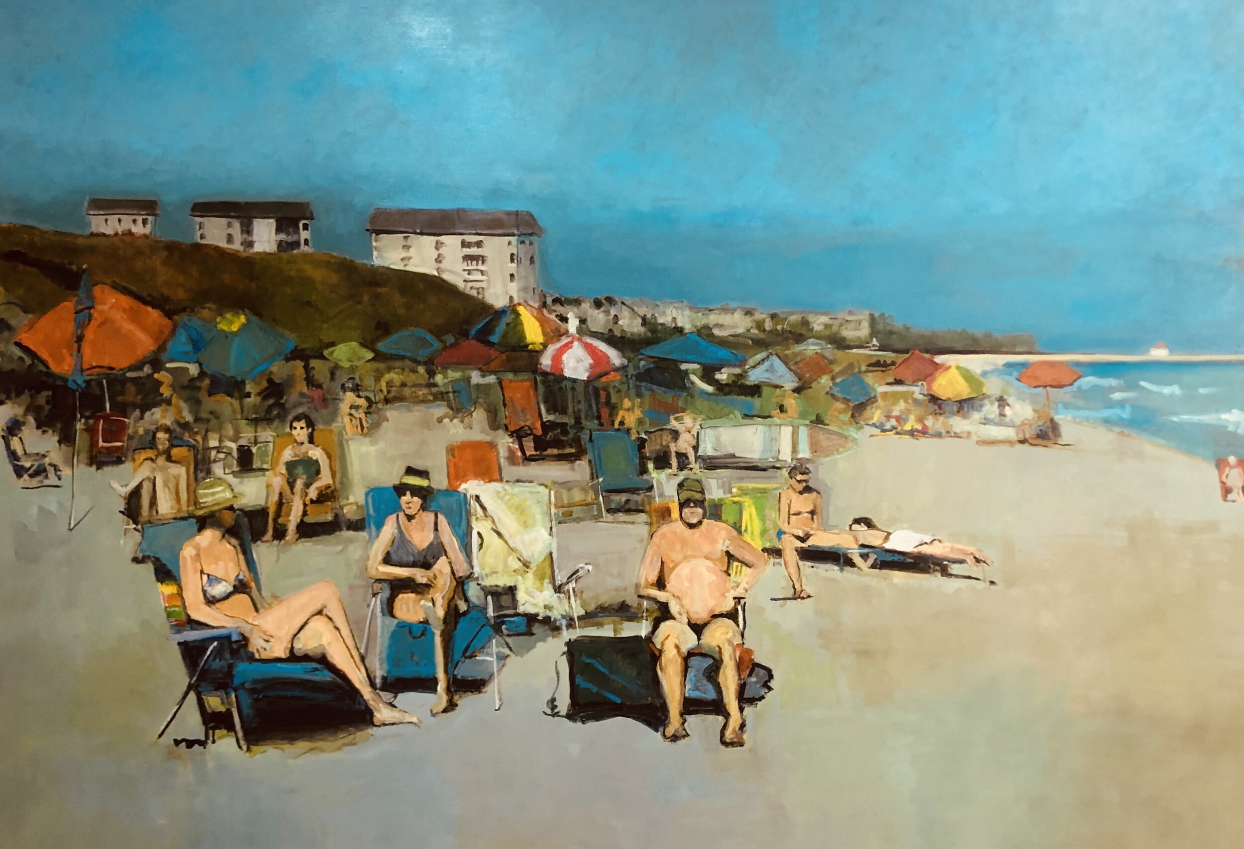 Glenn Harren,  The Beachcombers , 2019, Oil on canvas, 70 x 96 inches