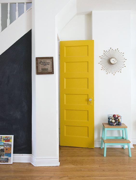 Interior Painting - Yellow Door