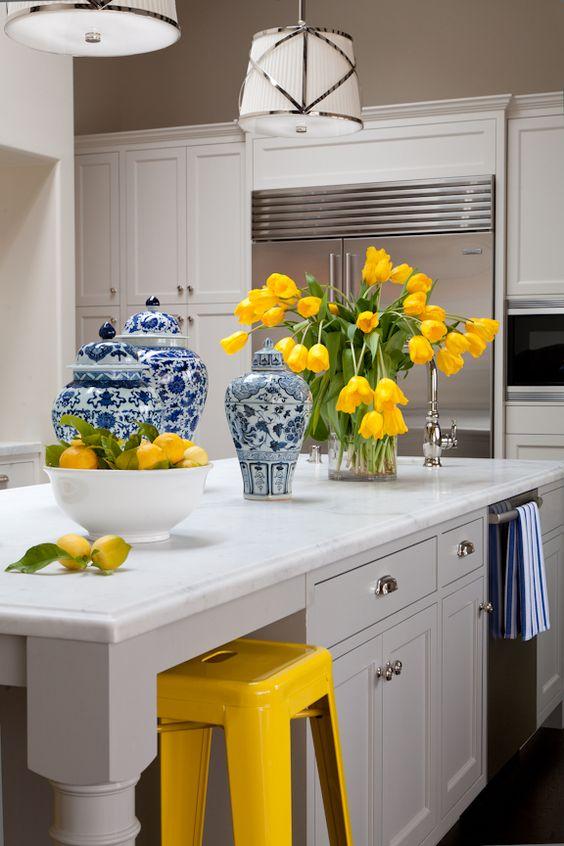 Kitchen Interior Painting - Yellow