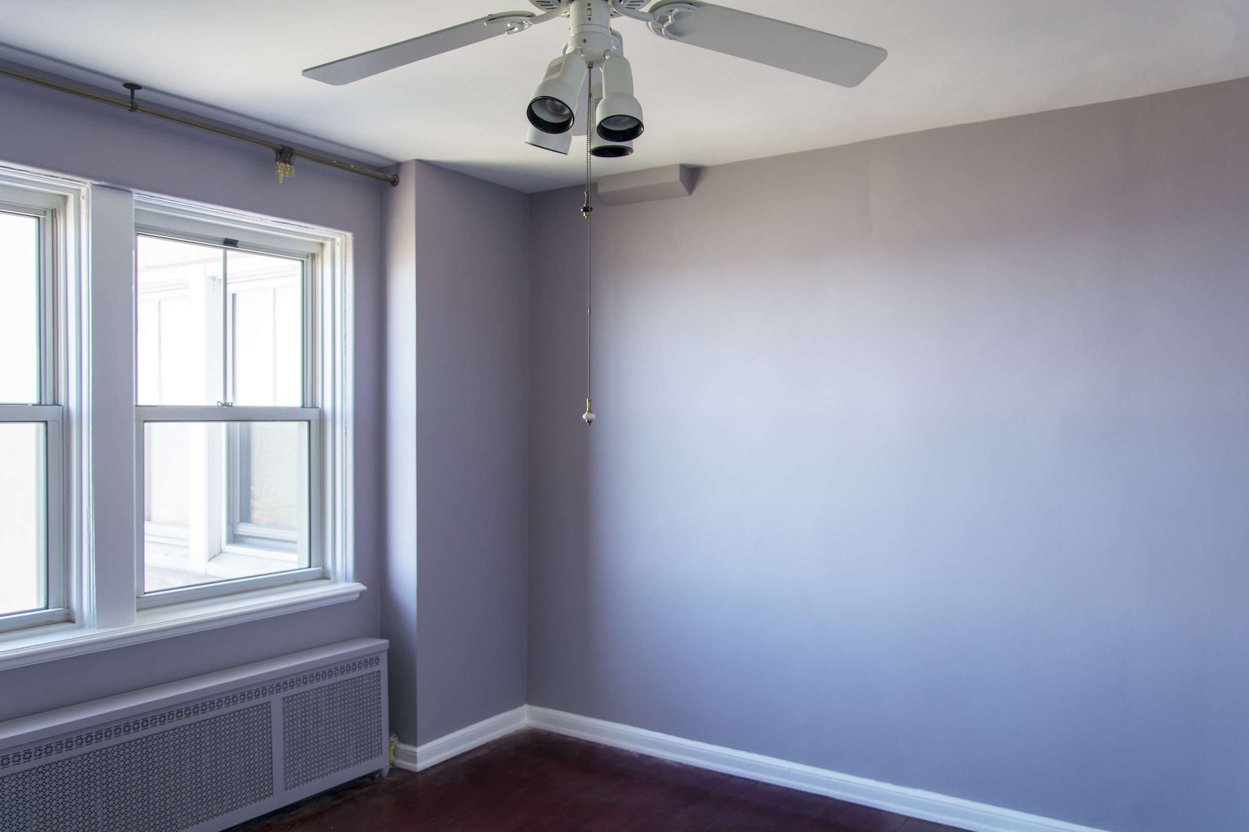 Chicago interior paint update Blue Door Chicago Beguiling Mauve SW 6269 Sherwin Williams