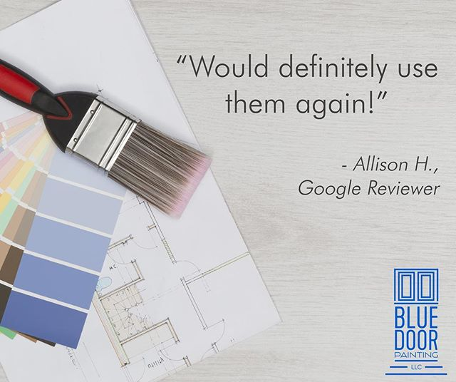 We are always very grateful for all the kind words from our customers ☺️ —————————————————————— #bluedoorpainting #chicagopainter #painter #chicagopainting #chicagoland #chicagocontractor #review #happycustomer #happyclient #customer #chicago