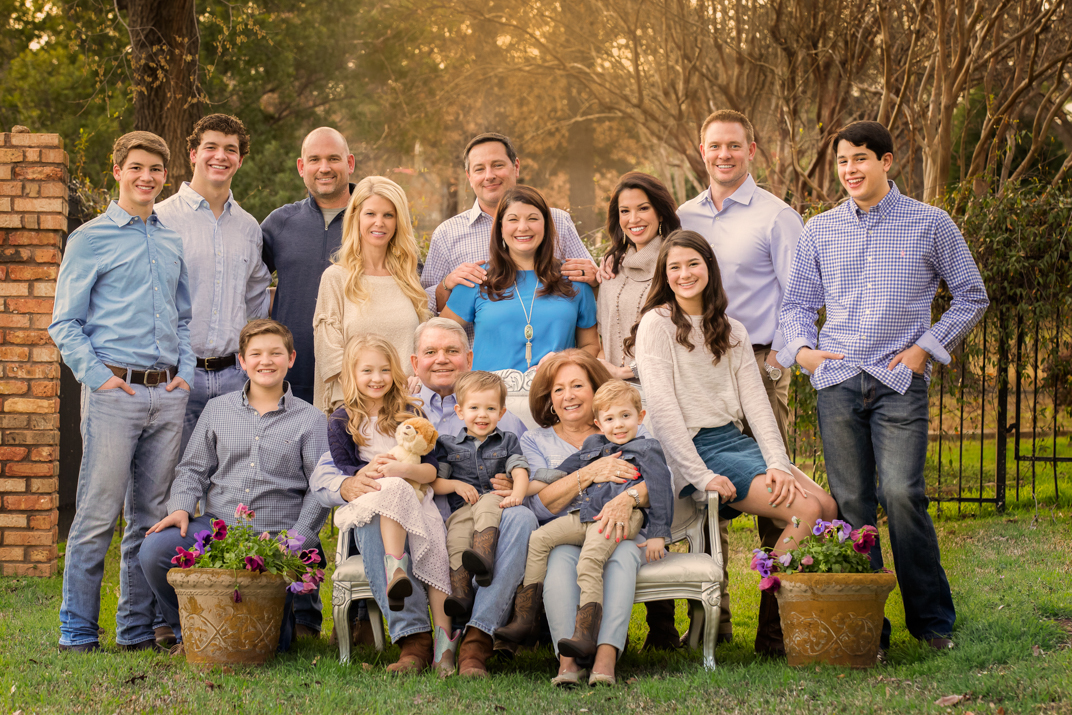 Large Family Portrait Southlake Texas