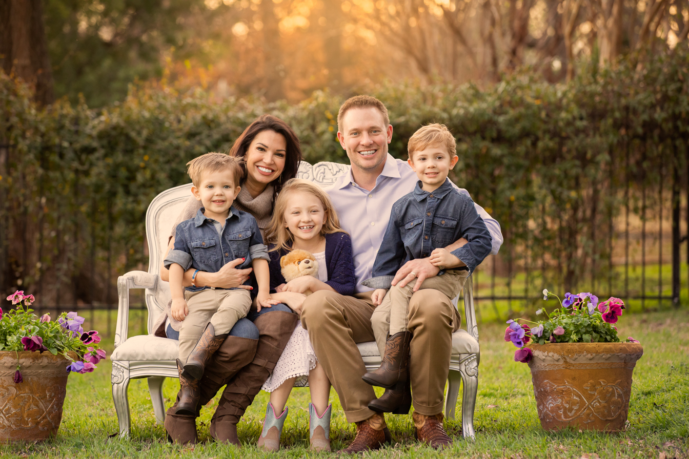 Melissa Rycroft and Tye Strickland Family Picture Southlake Tx
