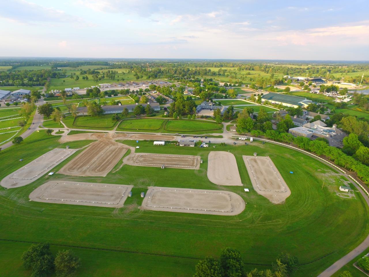 The Kentucky Horse Park Dressage Complex in Lexington Kentucky