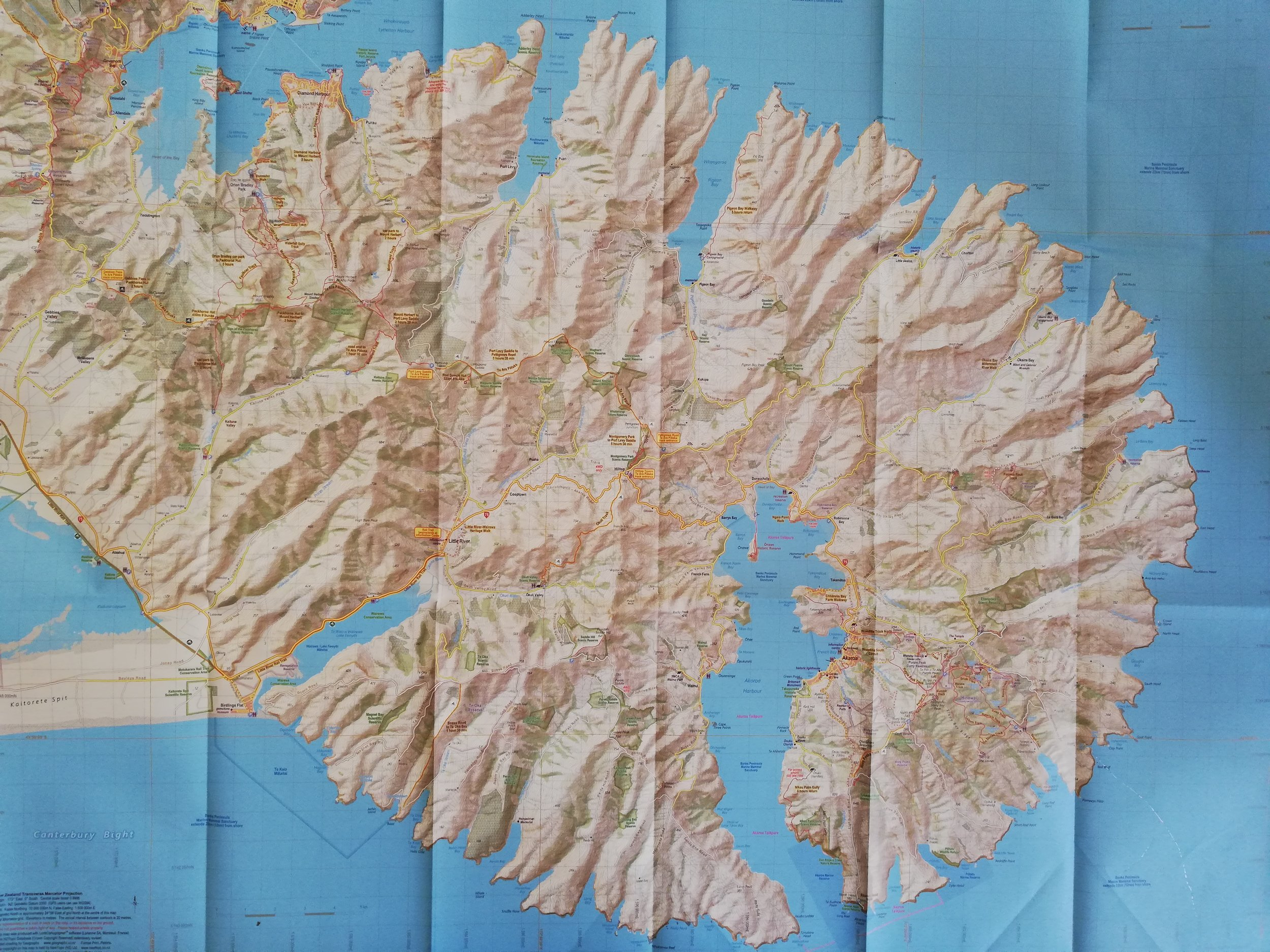Map of Banks Peninsula.