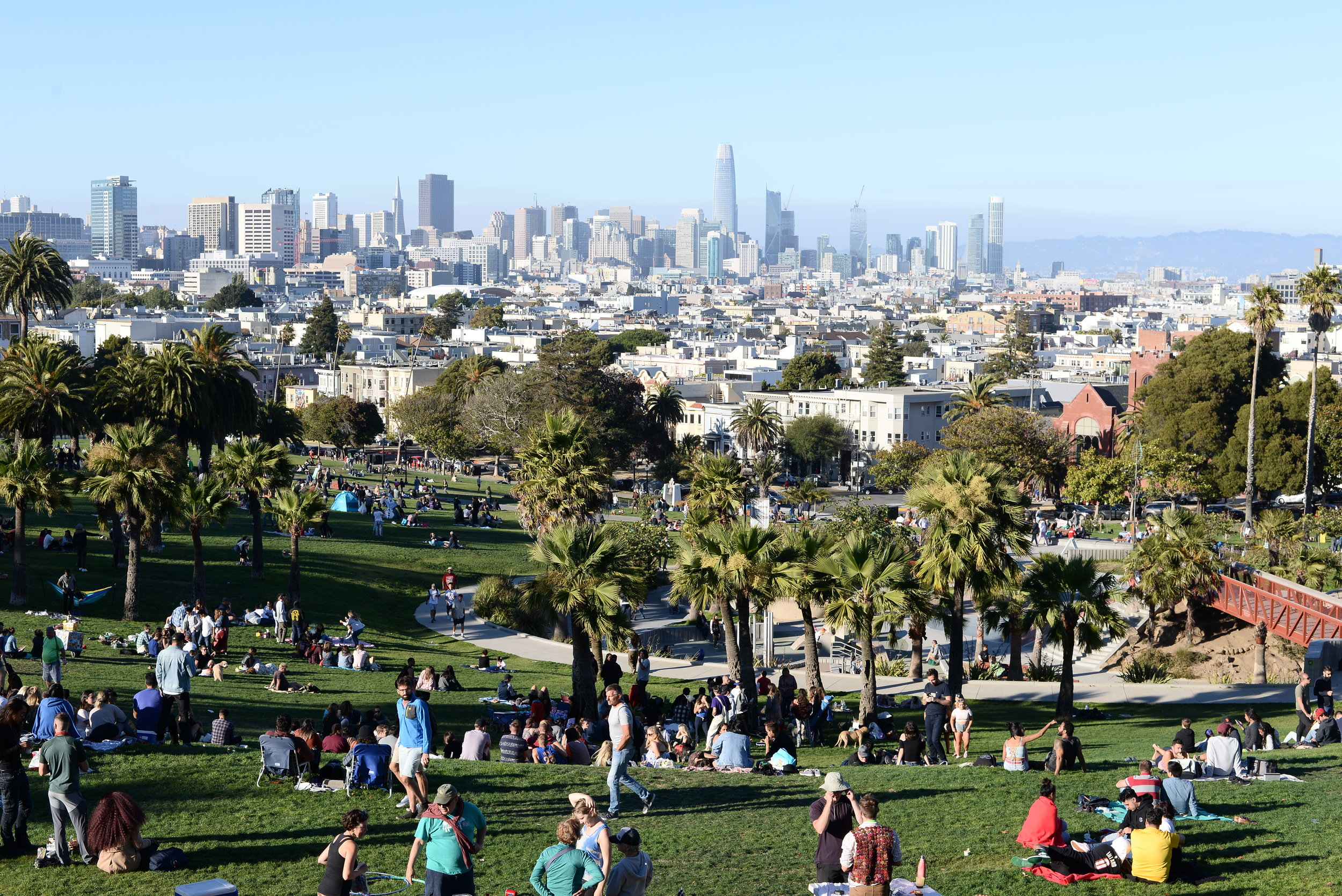 Delores Park near the Mission District in San Francisco.