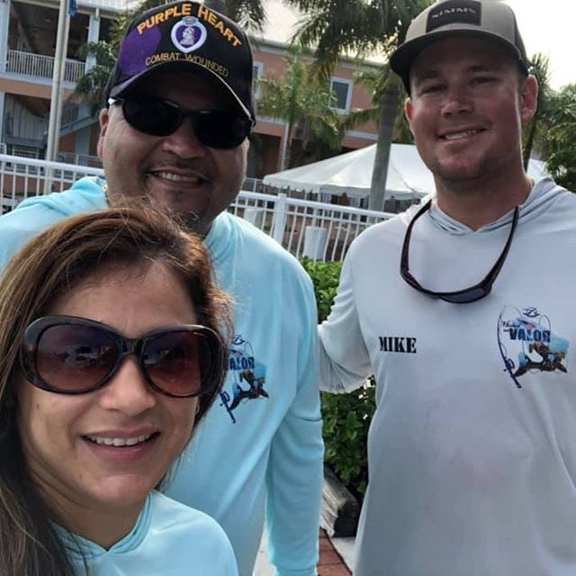 """Saturday I fished the V.E.T.S Hooked On Valor slam tournament with Victor and Ivette. We were lucky enough to catch fish all day and fill the card with a combine length of 83"""" for 1st place. Victor is a Purple Heart 24yr retired vet and disabled from his last tour in Afghanistan, as soon as he stepped on the boat his chronic pain was gone and stayed gone all day. Thank you @veteranexcursions for the opportunity and all that you're doing for these guys! #veteranexcursionstosea #hookedonvalor #taskforcefishingcharters"""