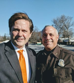 Sen. Steve Bieda (D-Warren) with Macomb County Sheriff Anthony Wickersham