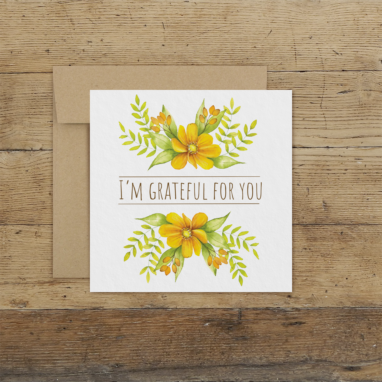 i am grateful for you