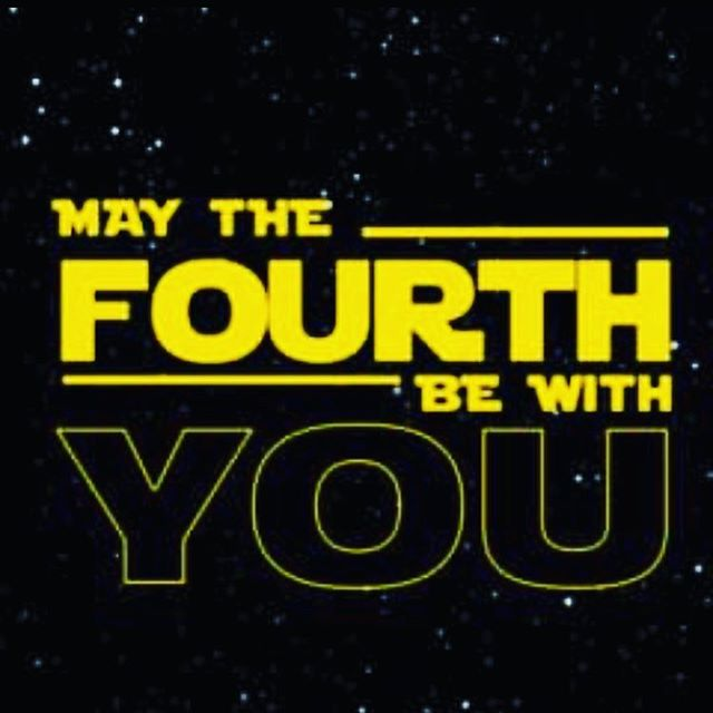 """Happy """"May the 4th"""" to you! Stay tuned for some exciting updates on Star Wars Galaxy's Edge in honor of this day! #maythe4thbewithyou #starwars #GalaxysEdge #Disney #disneyland #disneyworld"""