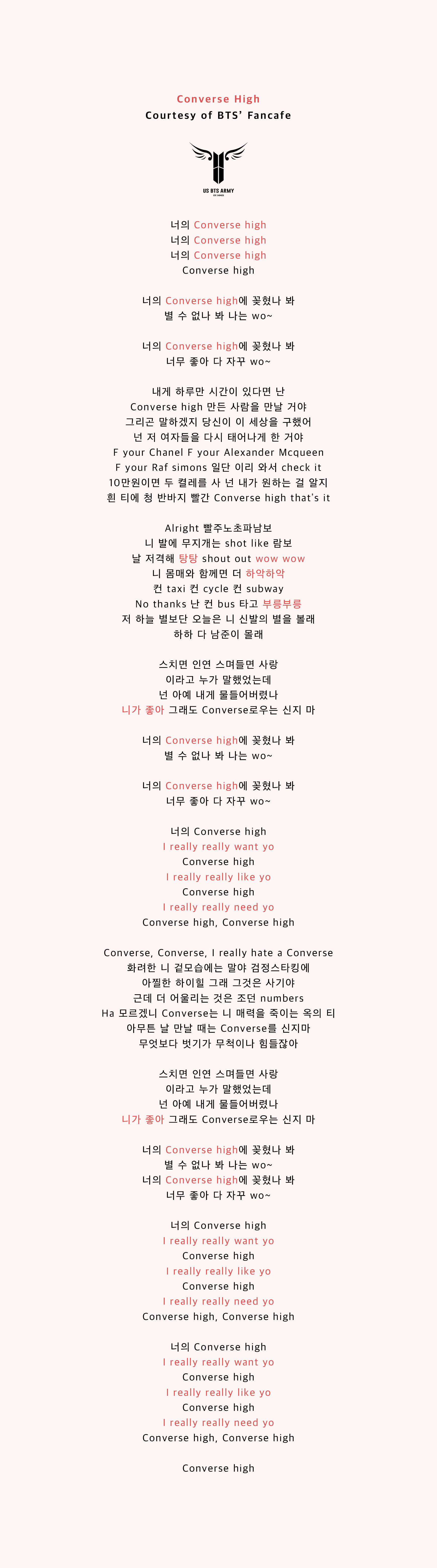 Converse High' Fanchant — US BTS ARMY