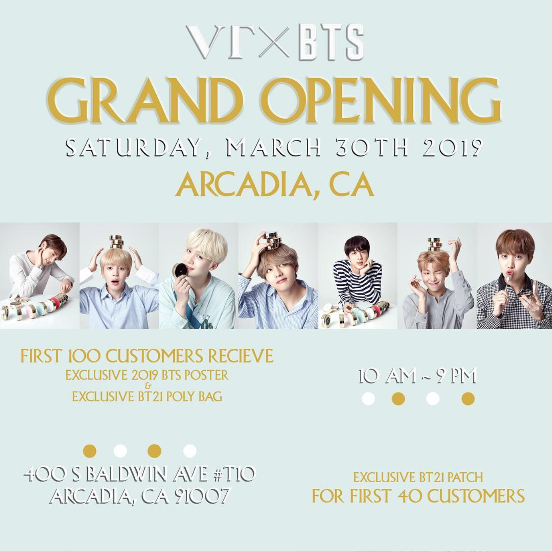 VT Cosmetics (Arcadia, CA) — US BTS ARMY