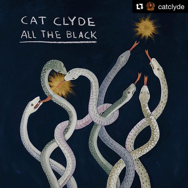 Give yourself some nightmares with @catclyde's new video for her sweet tune All The Black, which I was fortunate enough to play drums on alongside @carlo.band! . . . #Repost @catclyde with @get_repost ・・・ My new song 'All The Black' comes out this Friday! Pre-save the song on Spotify/Apple Music with the link in my bio! 🎨: @sophiapega ❤️ . . . #toronto #torontomusic #folk #folkmusic #indie #yyz #musically #rush #2112