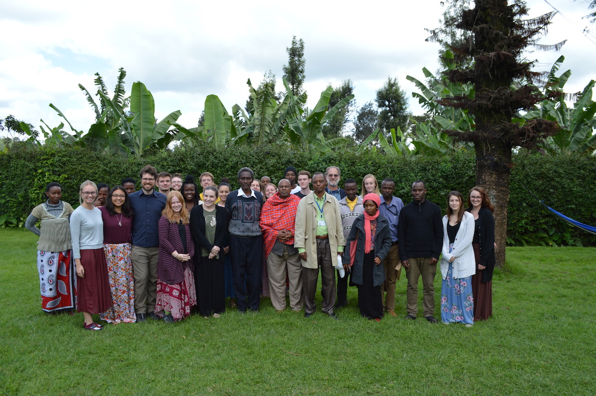 The 2018 Community Health Facilitator team with the village leaders in Akeri, Tanzania.