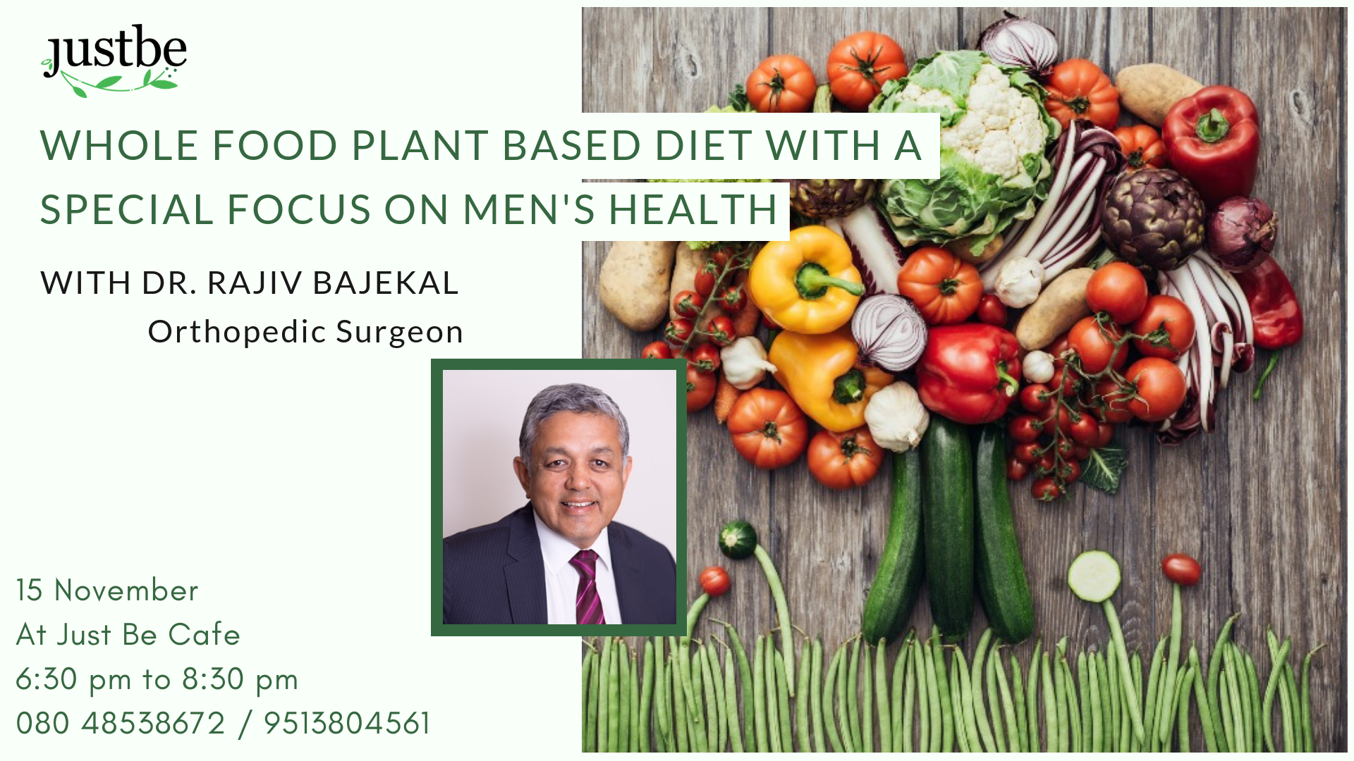 Whole Food Plant Based Diet with a Special Focus on Men's Health - With Dr. Rajiv Bajekal