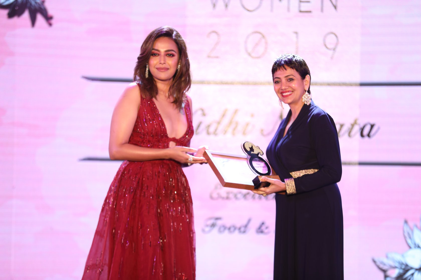 'Excellence in Food and Health category' award at Times Power Women 2019. -