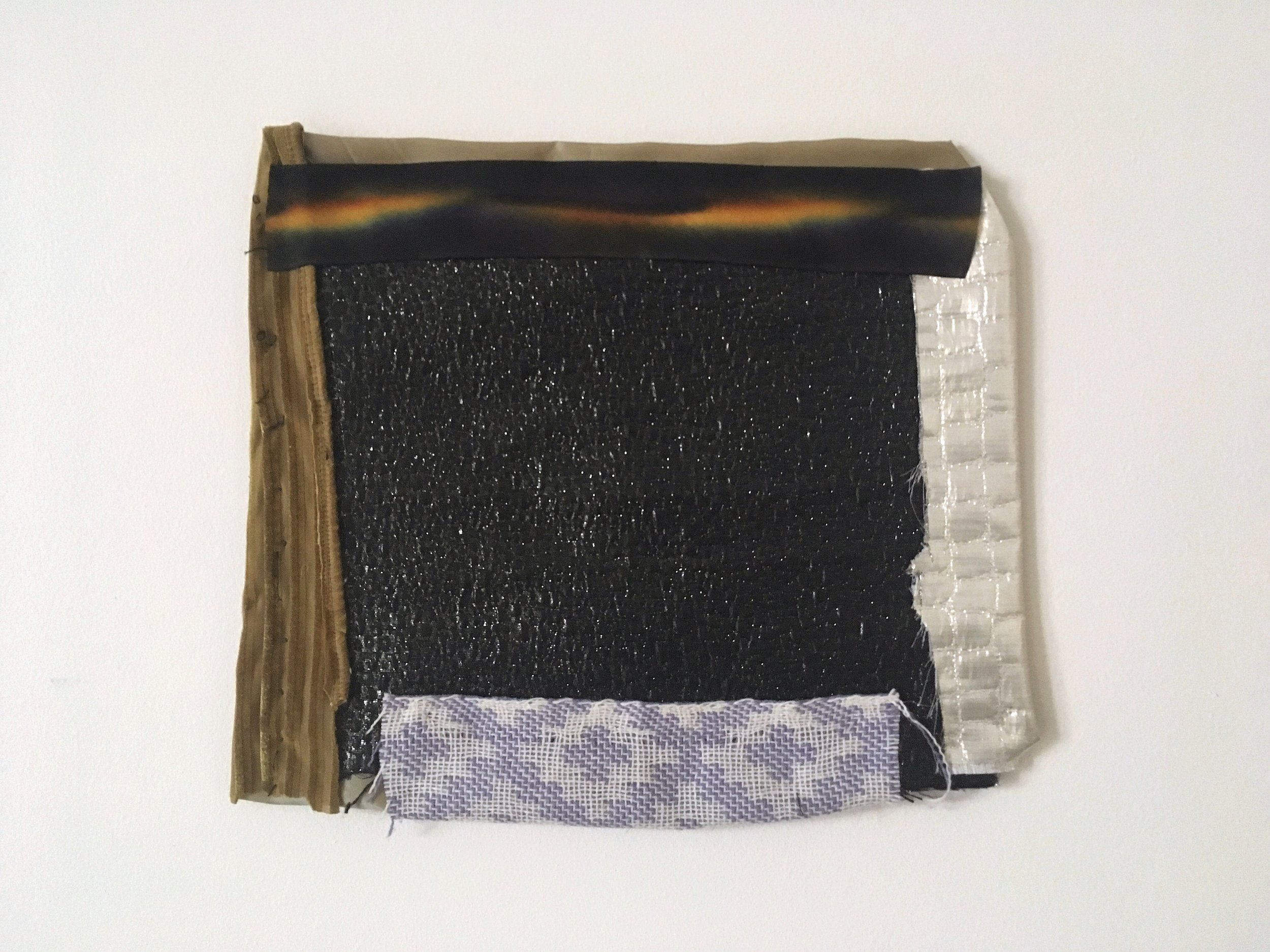 Night,  reassembled fabrics, 2019