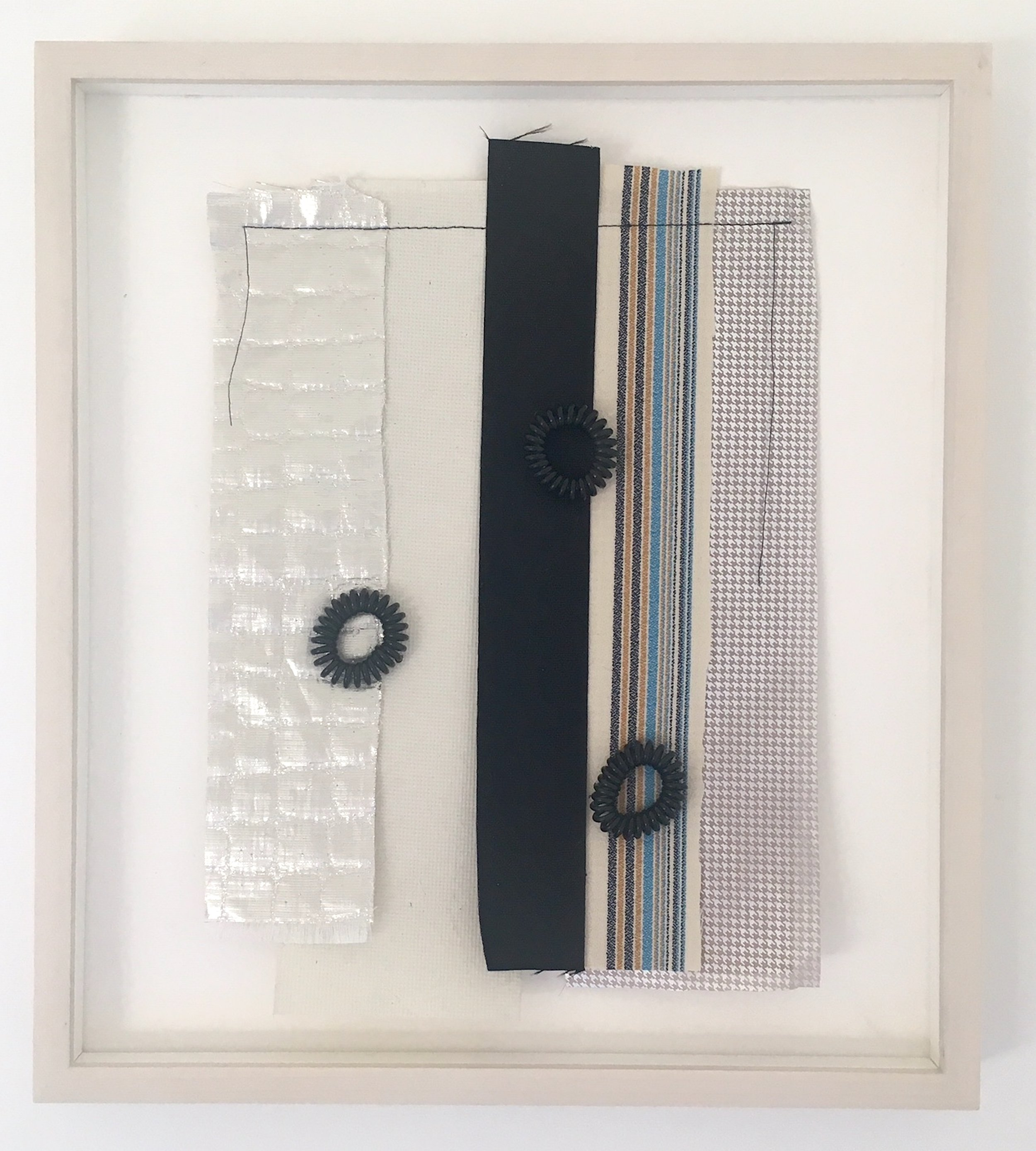 Don't swim out too far III , fabric collage, 2019