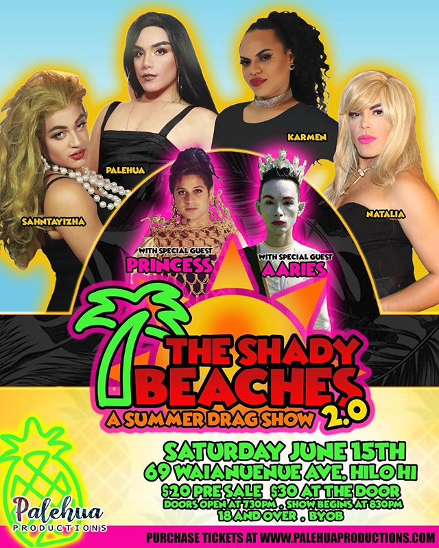 Are you ready for a show? We're ready to serve it baby! Come and see The Shady Beaches 2.0, a Drag show! 👸🏻 Purchase your tickets now!  Link in in bio 💕💕