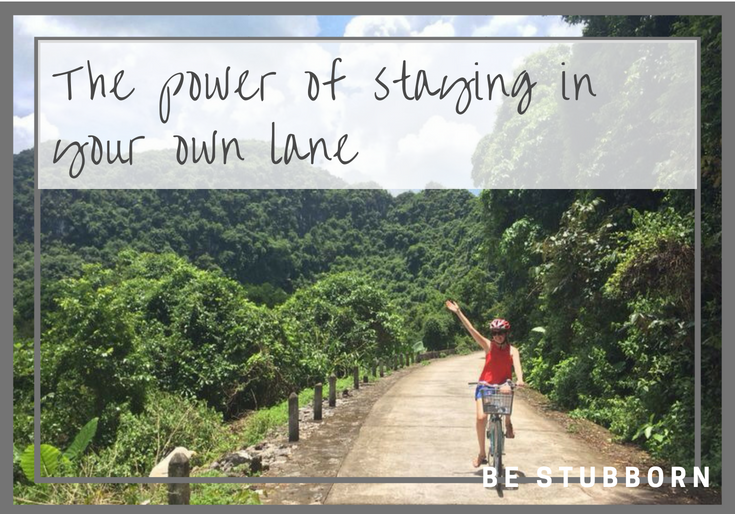 graphic - the power of staying in your own lane
