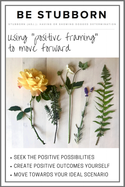 Using positive framing to feel good every day | Joanne Becker | Be Stubborn | Coaching | small business, creative coaching, resources, content creator