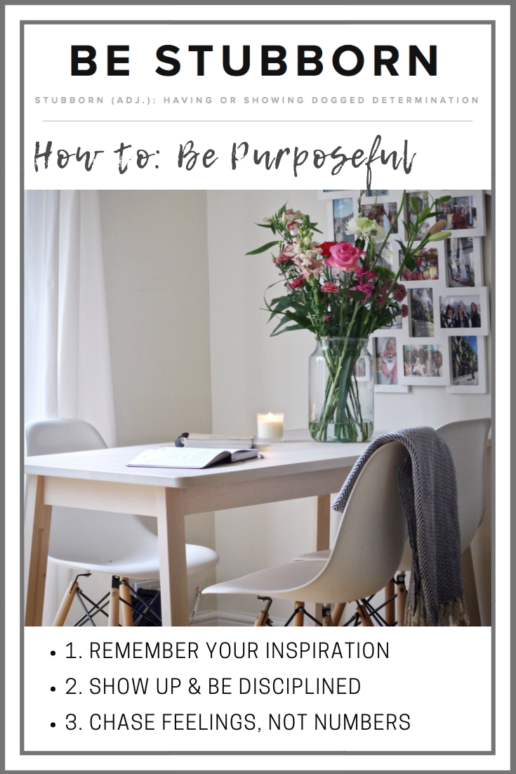 How to be purposeful | Joanne Becker | Be Stubborn | Coaching | small business, creative coaching, resources, content creator