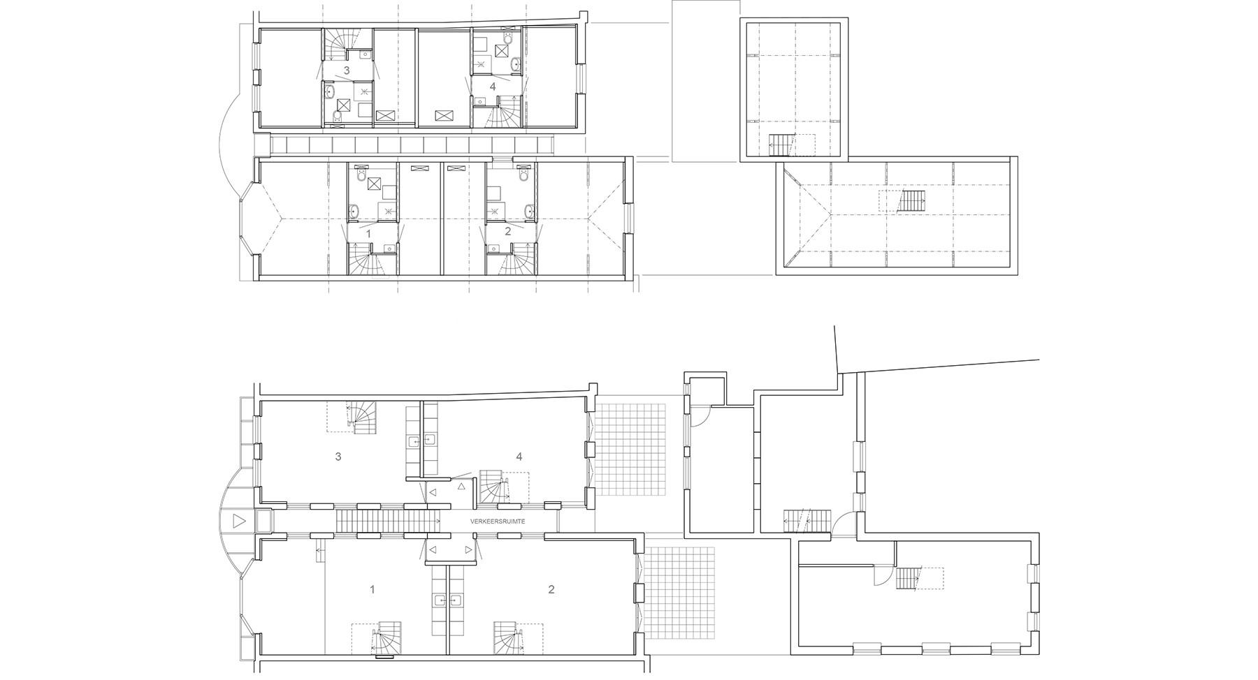 Nieuwe eerste en tweede verdieping