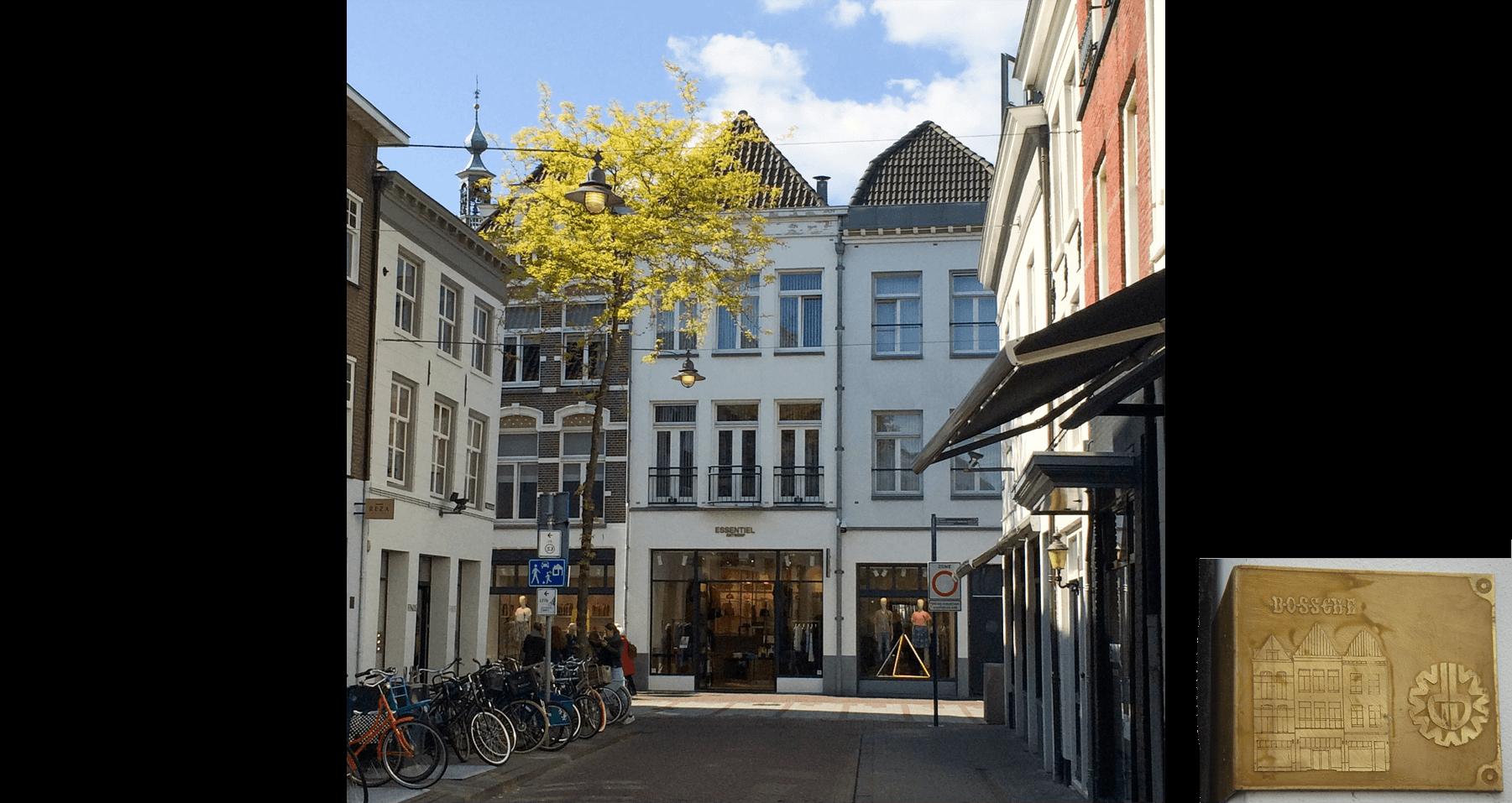 Nieuwe voorgevel met de gevelprijs van de Kring Vrienden van 's-Hertogenbosch