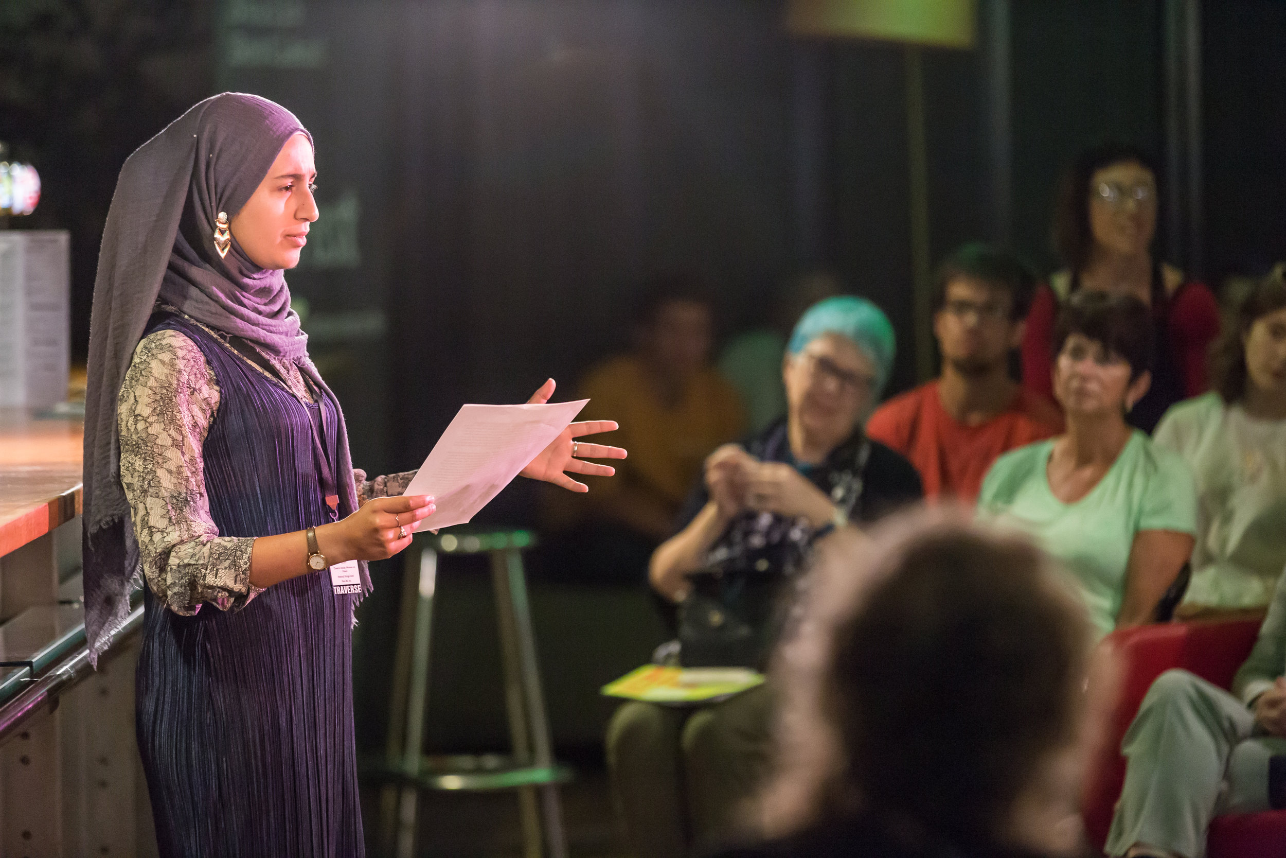 THEATRE UNCUT POLITICAL PLAYWRITING AWARD SHORTLIST ANNOUNCEMENT - In partnership with the Young Vic, Traverse Theatre and Sherman Theatre. Finding the next generation of political playwrights that want to explore the big issues that affect our lives today.Image: Suhaiymah Manzoor Khan. Credit Chris Scott.