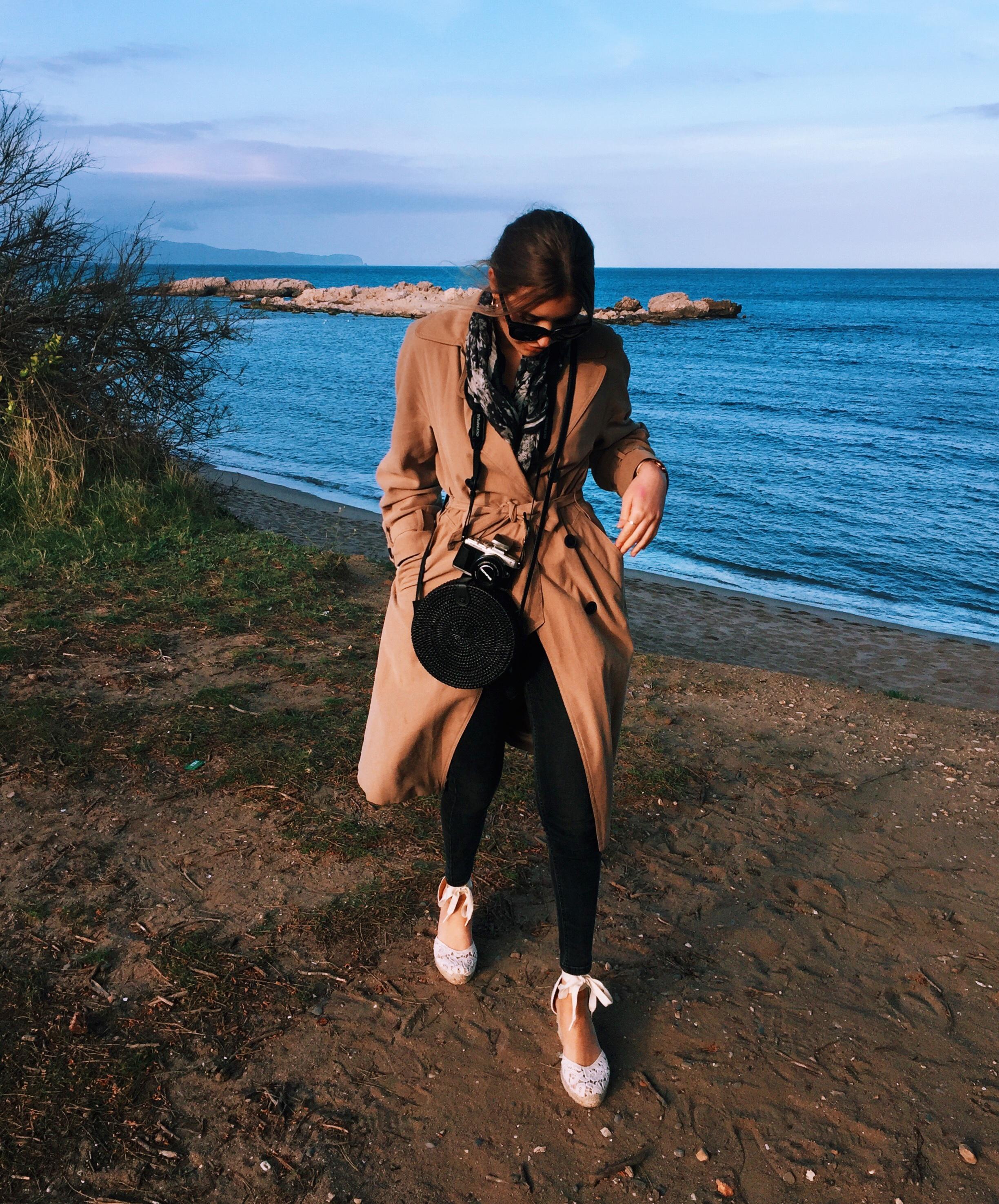 Black Straw Bag Oysho Blogger